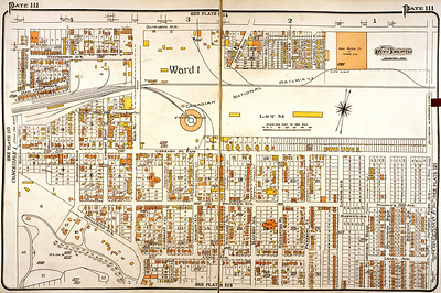 Local map 1924, Pickering St. is building up..