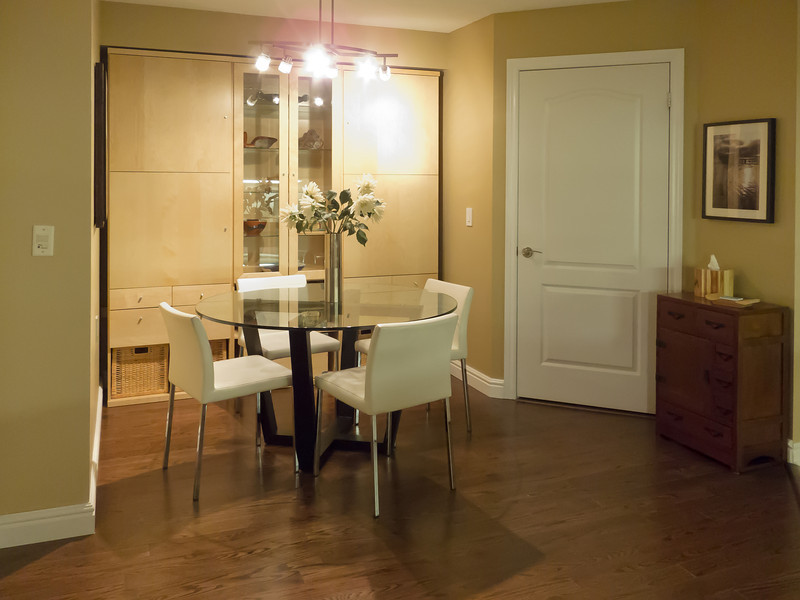 Picture of condo staged for sale after all renos completed.