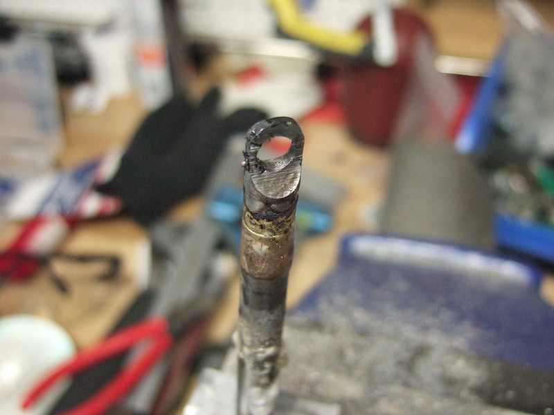 Brazed.  I added a little too much brass, but we can clean that up.  I also got it a little too hot (some of the flux is burned).
