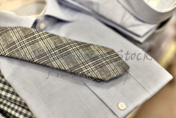 Mens Dress Shirts Stacked on Shelf
