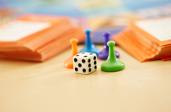 Close up Of Board Game Pieces