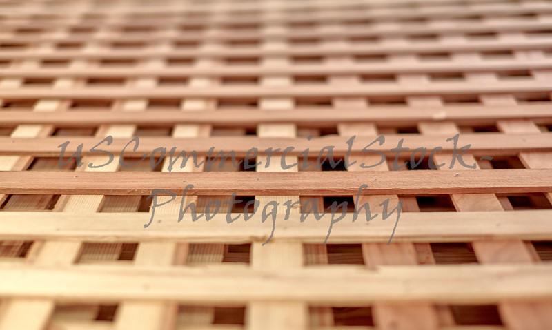 Wood Lattice for Growing Vines