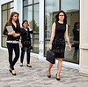 Business Women walking on Sidewalk