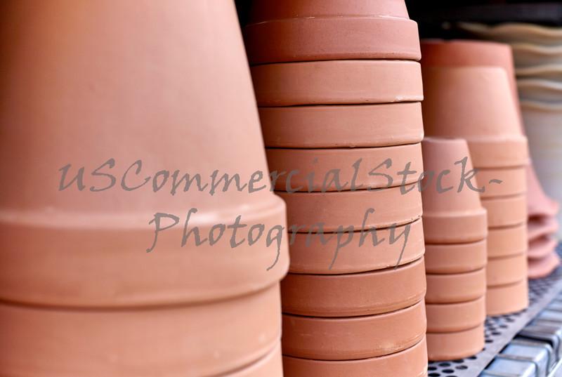 Clay Pots on a Shelf