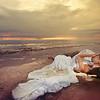 Wedding Romance - bride and groom on the beach