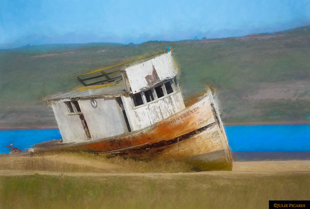 Shipwreck on Tomales Bay, CA