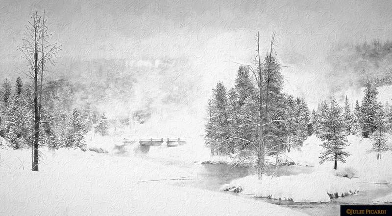 Pencil sketch:  The Quiet