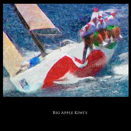 """Big Apple Kiwi's""  Digital Painting of Big Apple  /  98 Kenwood Cup"