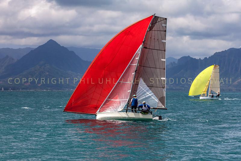 Sailing in Kaneohe Bay