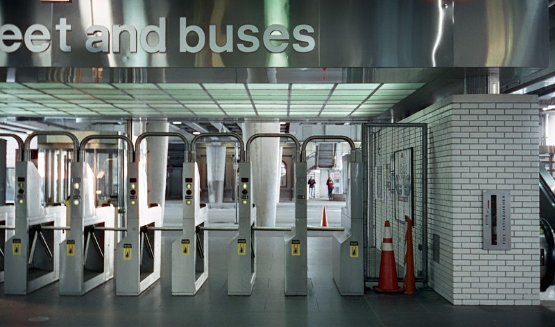 To street and buses