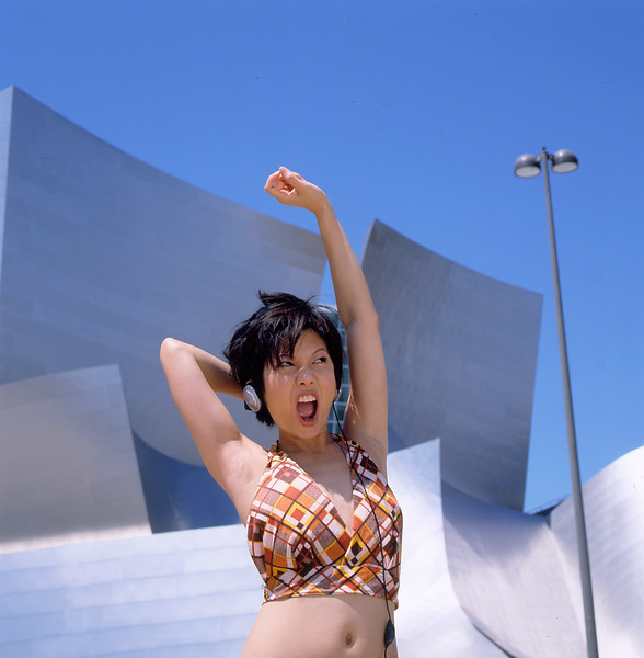 Girl Dancing on Rooftop
