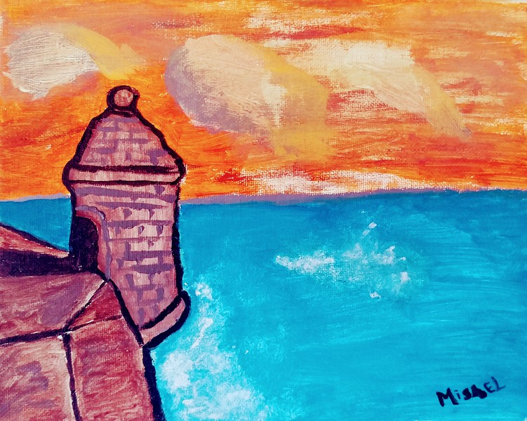"""El Morro"" - Acrylic on Canvas Board"