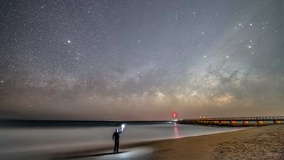 Made from 66 light frames by Starry Landscape Stacker 1.8.0.  Algorithm: Mean Min Hor Noise