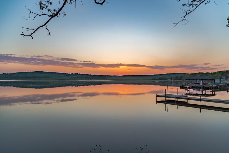 Springtime Sunset Reflection