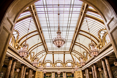 Palace Hotel Garden Court atrium downtown San Francisco