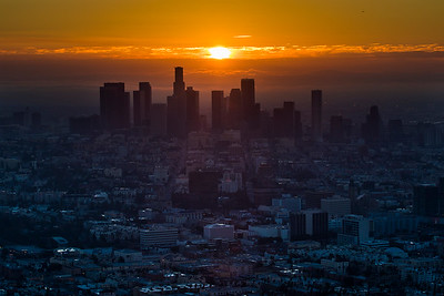 Sunrise over Los Angeles, December 6th, 2014.