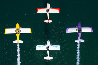 Four-ship Overhead View