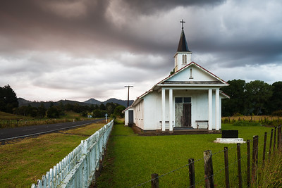 Church alongside State Highway One, Mangamuka, Northland