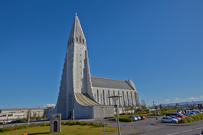 Hallgrimskirkja Lutheran Church in Reykjavik, Iceland.  September 2013