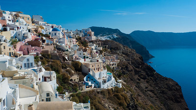 Western slope of Santorini,  Greece. July, 2012