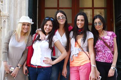 Scholarship Finalists  in Dubrovnik, Croatia.  2012