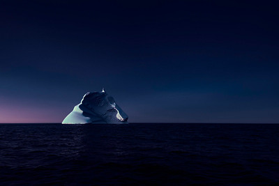 Iceberg during the blue hour off Trinity, NL