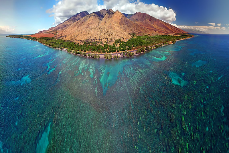 Island of Maui - Aerial Panoramic