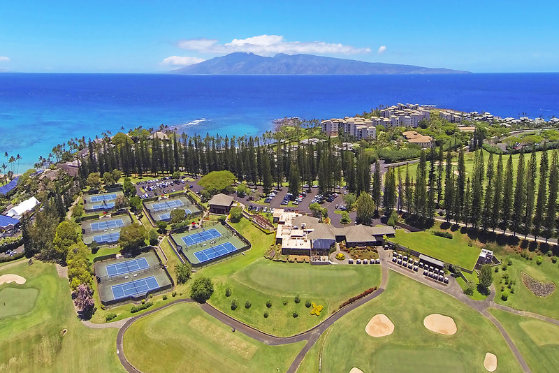 Drone Cam Hawaii - Kapalua Golf & Tennis Resort - Maui