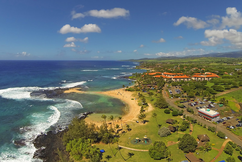 Drone Cam Hawaii - Poipu Beach - Island of Kauai, Hawaii