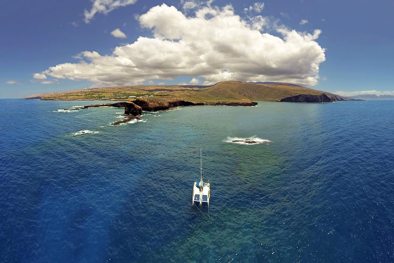 Aerial Panoramic - Island of Lana'i - Hawaii