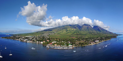 "Drone Aerial Prints & More - ""Maui Westside Panorama"""