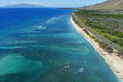 "Drone Aerial Prints & More - ""Ukumehame Beach"" - Island of Maui, Hawaii"