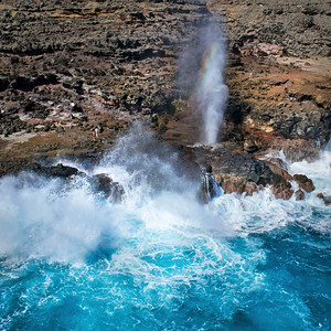 "Drone Aerial Prints - ""Nakalele Blowhole"" - Island of Maui, Hawaii"