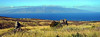 Panoramic View - North Shore of Lanai, Hawaii (Molokai on Horizon) - Joe West Photography