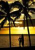 Sunset Surfer - Lana'i, Hawaii