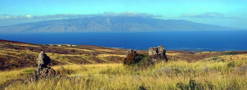Lana'i, Hawaii - Molokai on Horizon