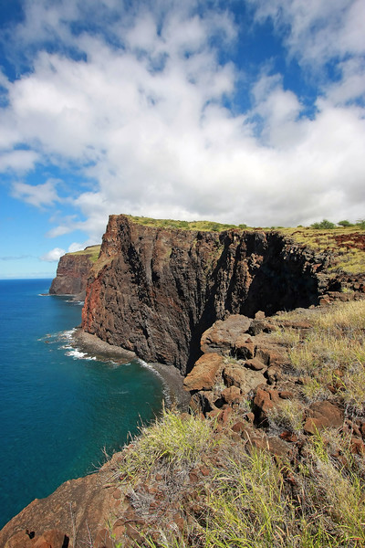 Cliffs at Kaunolu - Lana'i, Hawaii