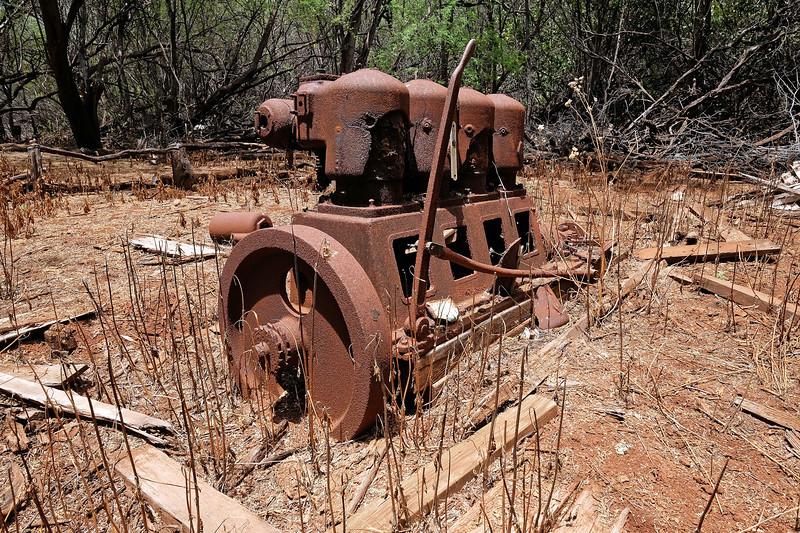 Motor from Lahaina to Lana'i Boat Ruins (circa 1900) - Keomoku - Island of Lana'i