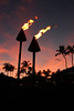 Tiki Torches - Sunset - Manele Bay Hotel - Lana'i, Hawaii