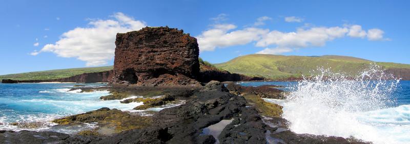 Pu'upehe (Sweetheart Rock) -  Ocean View - Lana'i, Hawaii