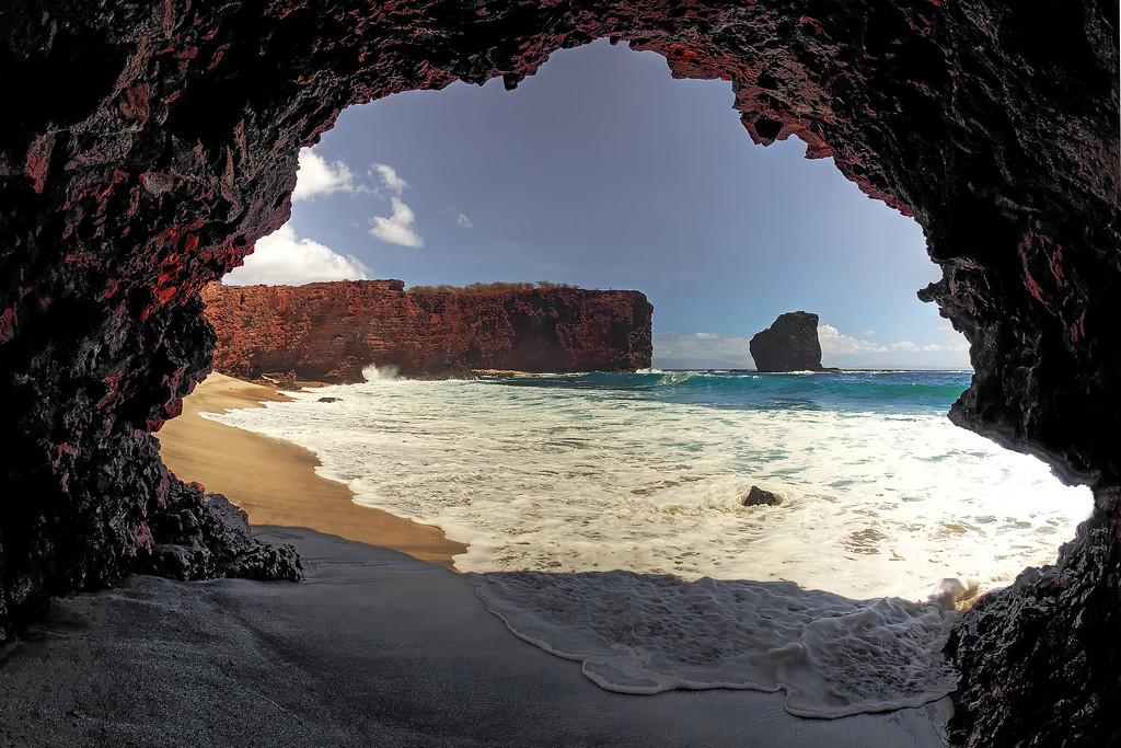 Cave at Shark's Bay - Lana'i, Hawaii