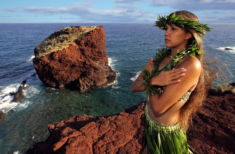Hula at Pu'upehe - Lana'i, Hawaii