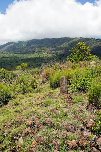 Heiau at Pu'u Manu - Island of Lana'i, Hawaii