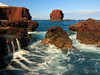 Ocean Swirling - Puupehe (Sweetheart Rock) - Lanai, Hawaii - Joe West Photography