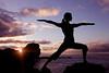 Yoga at Pu'upehe - Lana'i, Hawaii