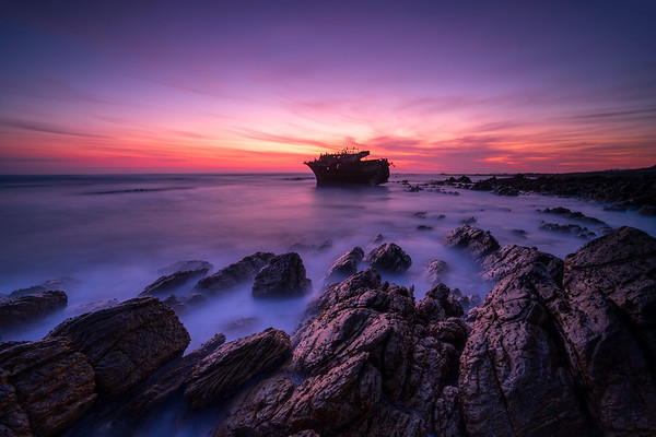 Blue hour, Meisho Maru No. 38,  Agulhas National Park 2020