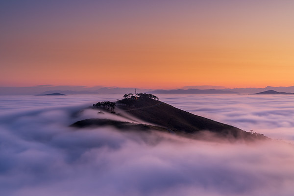 Sunrise fog, Signal Hill, Cape Town 2020
