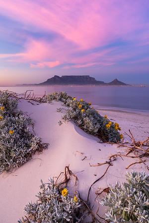 Blushing sunrise, Dolphin Beach, Cape Town 2020