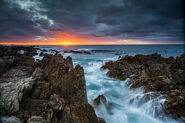 Last light, De Kelders, South Africa