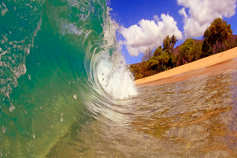 "Wave Images - ""Blue to Red"" - Hawaii"